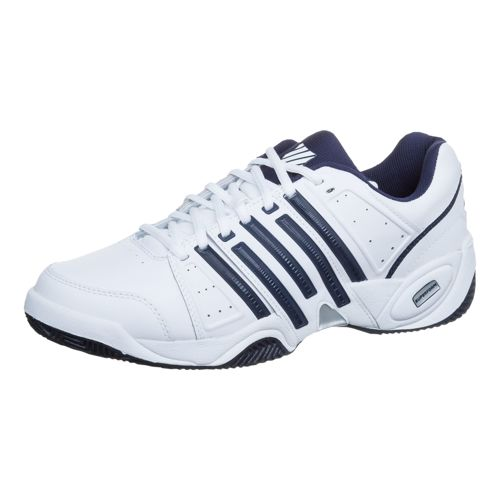 K-Swiss Accomplish II Leather All Court Shoe Men - White, Dark Blue