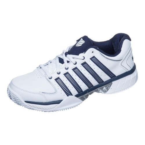 K-Swiss Hypercourt Express Leather HB Clay Court Shoe Men - White, Dark Blue