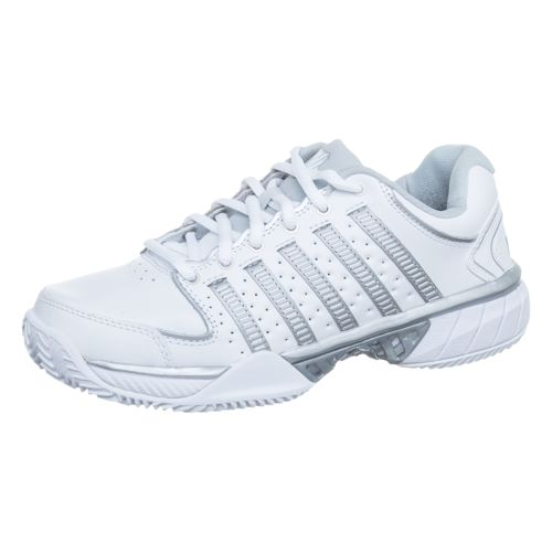 K-Swiss Hypercourt Express Leather HB Clay Court Shoe Women - White, Silver