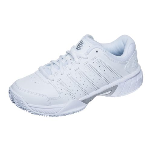 K-Swiss Express Leather HB All Court Shoe Women - White, Silver