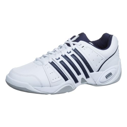 K-Swiss Accomplish II Leather Indoor Carpet Shoe Men - White, Dark Blue