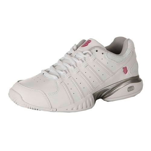K-Swiss Receiver III All Court Shoe Women - White, Silver