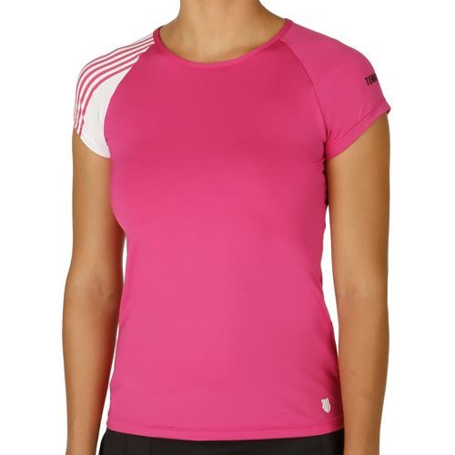 K-Swiss Performance Robinson Collection Match T-Shirt Women - Pink, White
