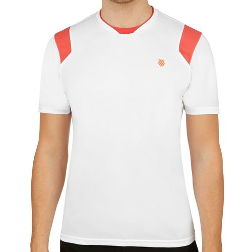 K-Swiss BB Crew T-Shirt Men - White, Red