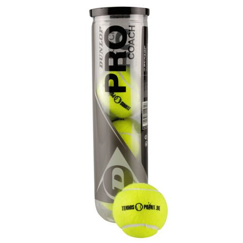 Dunlop Pro Coach 4 Ball Tube With Tennis-Point Print