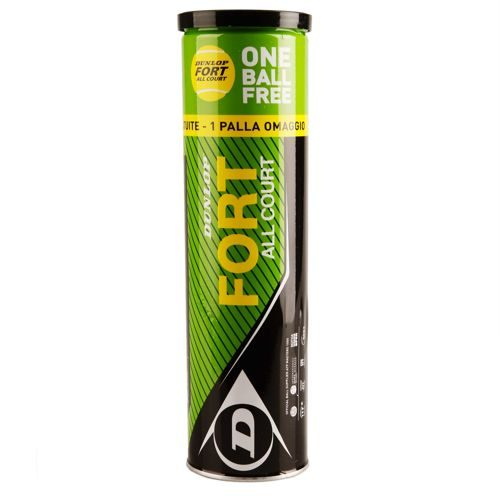 Dunlop Fort All Court 3+1 4 Ball Tube