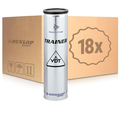 Dunlop Trainer 18x 4 Ball Tube In A Carton