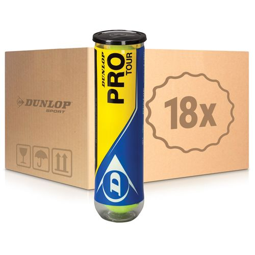 Dunlop Pro Tour 18x 4 Ball Tube In A Box