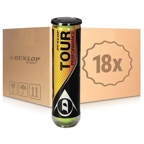 Dunlop Performance Tour 18x 4 Ball Tube In A Box