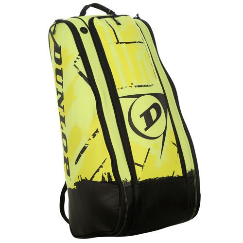 Dunlop Revolution NT Racket Bag 10 Pack - Neon Yellow, Black