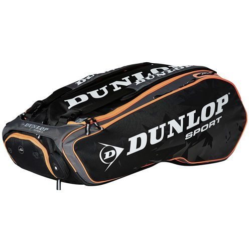 Dunlop Performance 12 Racket Bag - Black, Grey
