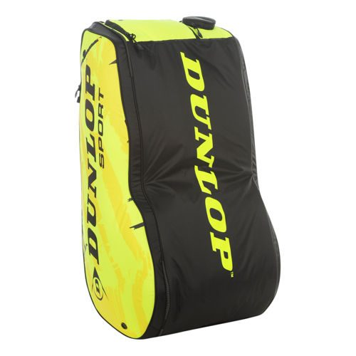 Dunlop Revolution NT Racket Bag 12 Pack - Neon Yellow, Black
