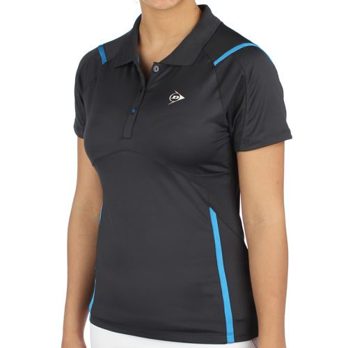 Dunlop Performance Ladies Button Polo T-Shirt Women - Grey