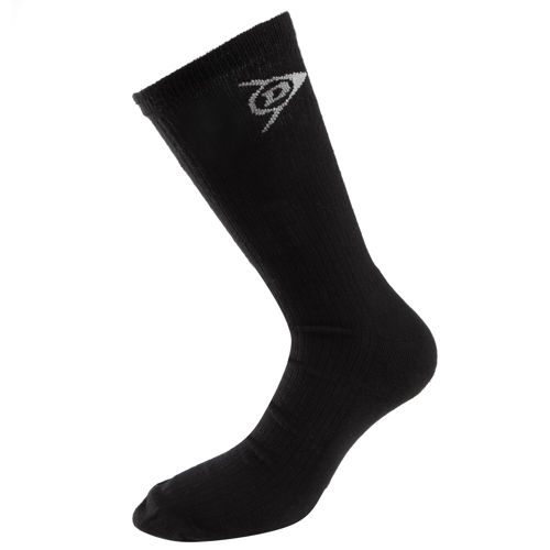 Dunlop Crew Sock Pack Tennis Socks 3 Pack - Black