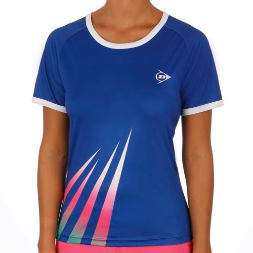 Dunlop Performance Crew T-Shirt Women - Blue