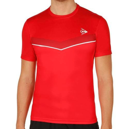 Dunlop Performance Crew T-Shirt Men - Red