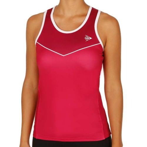 Dunlop Performance LDS Tank Top Women - Red, Dark Red