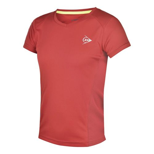 Dunlop Clubline Crew T-Shirt Girls - Red, Anthracite
