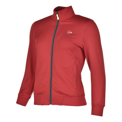 Dunlop Clubline Knitted Training Jacket Girls - Red, Anthracite