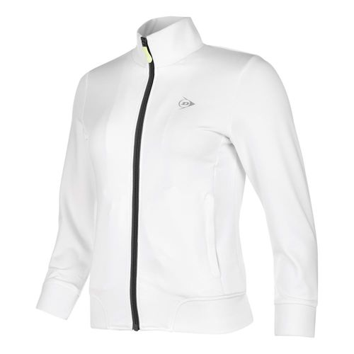 Dunlop Clubline Knitted Training Jacket Girls - White, Anthracite