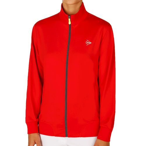 Dunlop Club Knitted Training Jacket Women - Red, Dark Grey