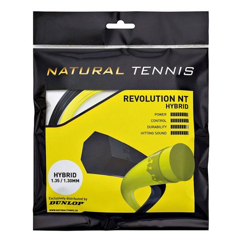 Dunlop Revolution NT Hybrid Set String Set 12m - Black, Yellow