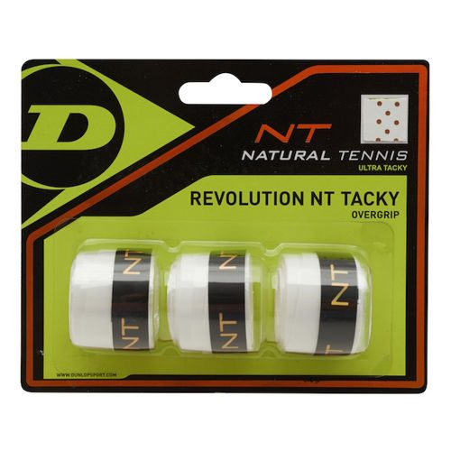 Dunlop Revolution NT Tacky 3 Pack - White