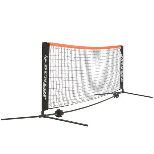 Dunlop Mini-court Net 6m With Frame - Red, Black