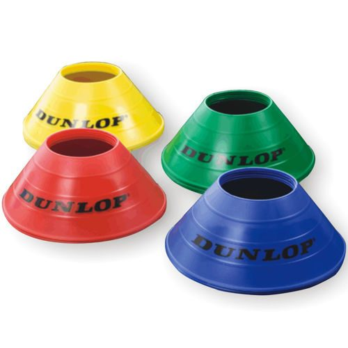 Dunlop Set Marking Cones 20 Pack - Yellow, Blue