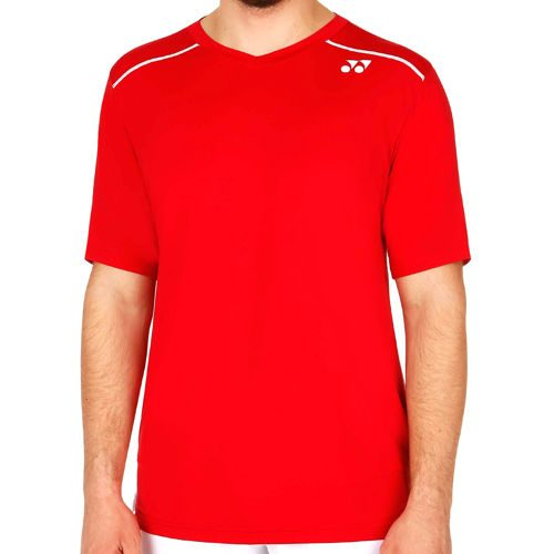 Yonex Stan Wawrinka V-Neck Shirt T-Shirt Men - Red