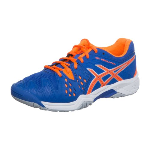 Asics Gel-Resolution 6 GS All Court Shoe Kids - Blue, Neon Orange