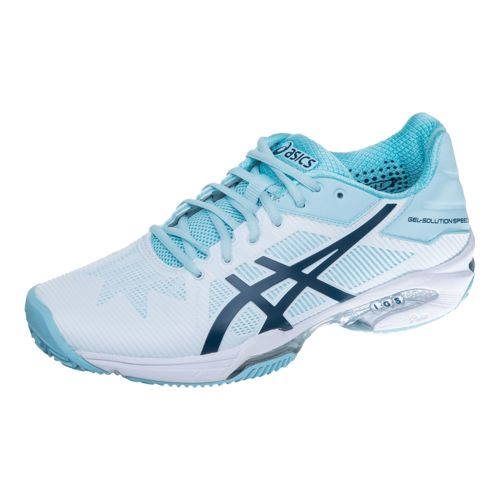 Asics Samantha Stosur Gel-Solution Speed 3 Clay Clay Court Shoe Women - White, Light Blue