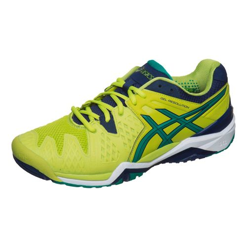 Asics Gael Monfils Gel-Resolution 6 All Court Shoe Men - Lime, Dark Green