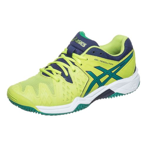 Asics Gel-Resolution 6 Clay GS Clay Court Shoe Kids - Light Green, Dark Green