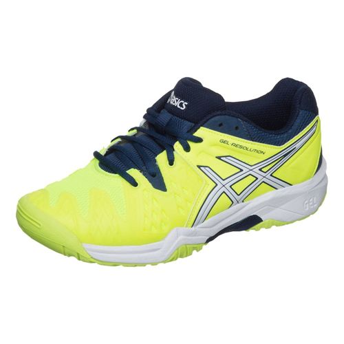 Asics Gel-Resolution 6 GS All Court Shoe Kids - Neon Yellow, White