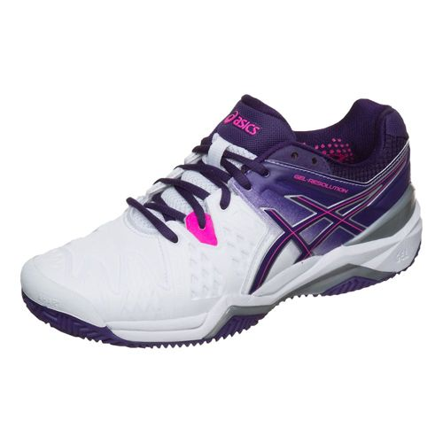 Asics Gel-Resolution 6 Clay Clay Court Shoe Women - White, Violet