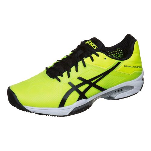 Asics Gel-Solution Speed 3 Clay Clay Court Shoe Men - Neon Yellow, Black