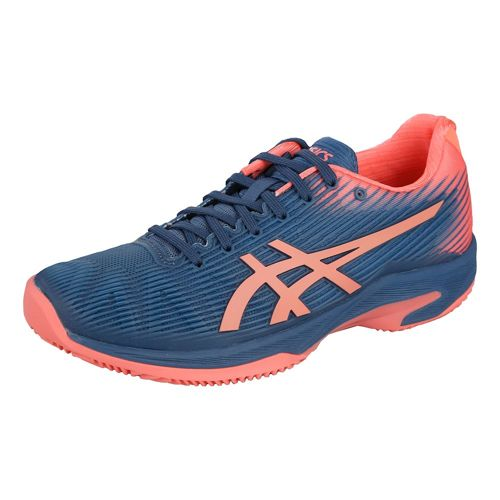 Asics Solution Speed FF Clay Court Shoe Women - Dark Blue, Coral
