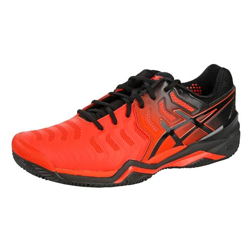 Asics Gel-Resolution 7 Clay Court Shoe Men - Orange, Black