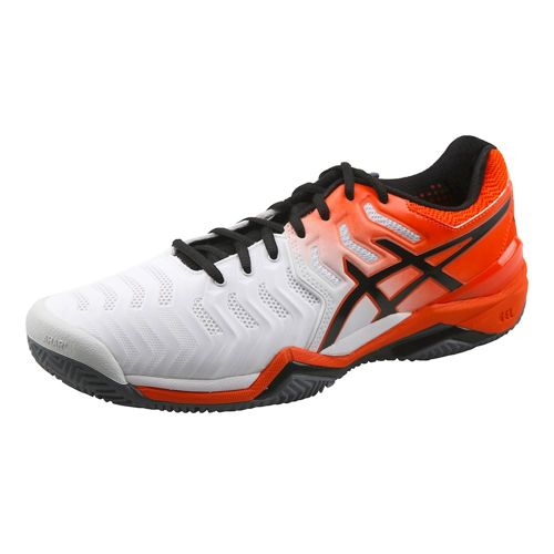 Asics Gel-Resolution 7 Clay Court Shoe Men - White, Orange