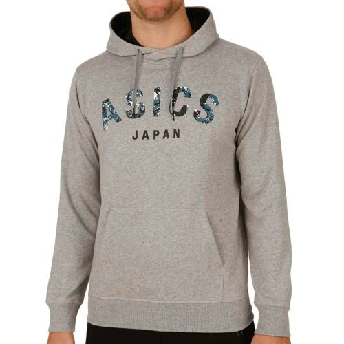 Asics Training Camouflage Logo Hoody Men - Grey