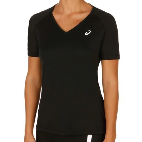 Asics Club V-Neck Top Women - Black