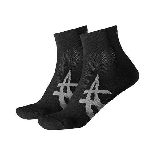 Asics Cushioning Tennis Socks 2 Pack - Black