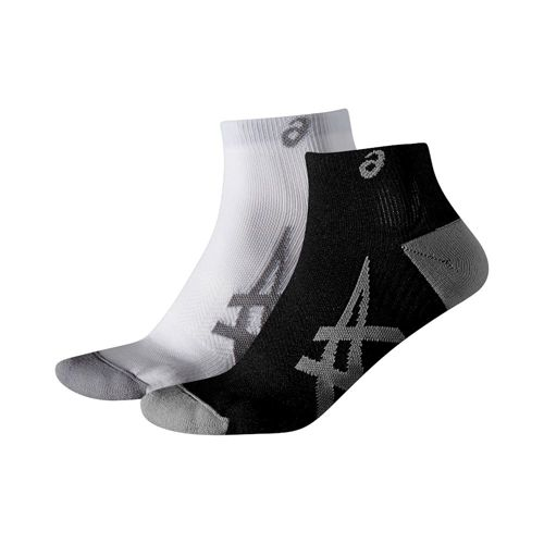 Asics Lightweight Sports Socks 2 Pack - White, Black