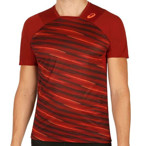 Asics Athlete Shortsleeve T-Shirt Men - Dark Red
