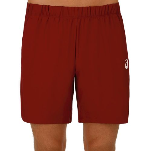 Asics Club Woven 7In Shorts Men - Dark Red