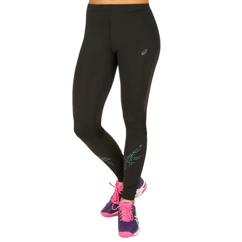 Asics Asics Stripe Tight Training Pants Women - Black, Dark Green
