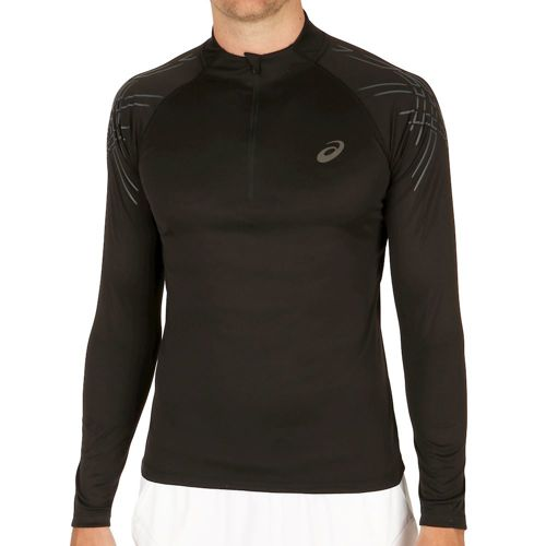 Asics Asics Stripe Half Zip Long Sleeve Men - Black
