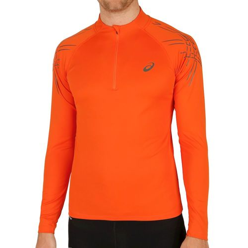Asics Asics Stripe Half Zip Long Sleeve Men - Orange