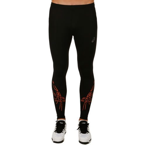 Asics Asics Stripe Tight Training Pants Men - Black, Orange